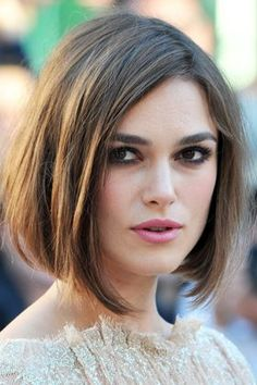 Classy Bob Hairstyle for Long Faces Kiera Knightly