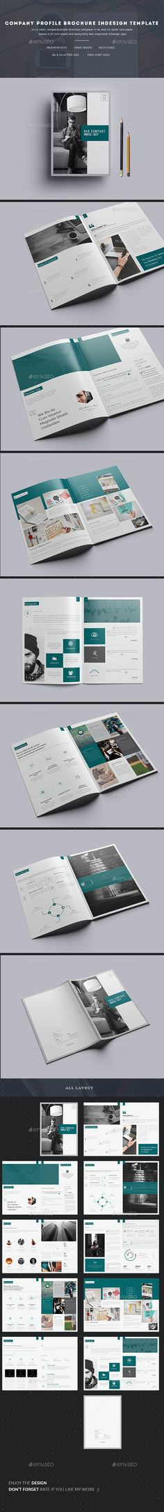 Clean and Professional Company Profile Brochure Template InDesign - company profile templates
