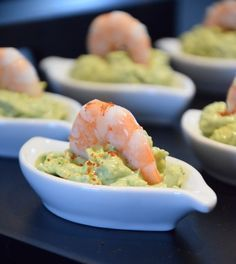 Shrimp, Avocado and Mascarpone Appetizer Recipes, Keto Recipes, Appetizers, Healthy Recipes, Fingers Food, Brunch, Fingerfood Party, Snacks Für Party, Guacamole