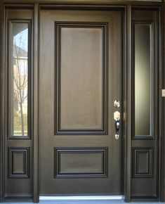 Front Door Paint Colors - Want a quick makeover? Paint your front door a different color. Here a pretty front door color ideas to improve your home's curb appeal and add more style! The Doors, Entrance Doors, Wood Doors, Windows And Doors, Panel Doors, Sliding Doors, Wooden Windows, Black Windows, House Entrance