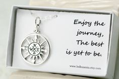 Sterling Silver Compass Necklace - Compass Pendant - Graduation Gift - High School Graduation - College Graduation - Frendship Necklace