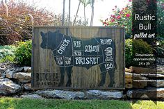 Rustic Wood Sign  BUTCHER shop cuts by mangoseedmarketplace