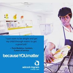 #becauseyoumatter Our long running employee engagement campaign for Adcock Ingram - showing people how important they are. They help save lives  #employeeengagement #adcockingram #values #trust #leadership #activation #employees #staff #campaign #thesquad