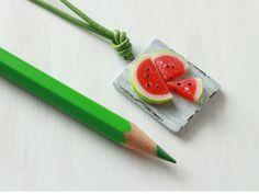Olivia Vellani is a Toronto/Canada based visual artist, specializing in food art sculpture + photography. Watermelon Bag, Polymer Clay Miniatures, Miniature Food, Food Art, Sculpture Art, Jewelry Art, Healthy Eating, Ethnic Recipes, Eating Healthy
