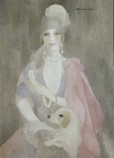 Marie Laurencin, Portrait of Baroness Gourgaud with Pink Coat, 1923, oil on canvas Fawn Velveteen