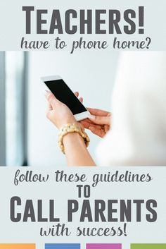 How to make a parent phone call when there is a problem. A sometimes sticky, but often necessary situation. Here is a possible script.