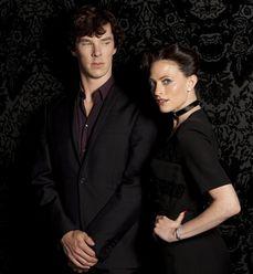 In Season 2 of the BBC series, Benedict Cumberbatch is Sherlock and Lara Pulver is Irene Adler Sherlock Bbc, Sherlock Season 2, Sherlock Series, Benedict Cumberbatch Sherlock, Sherlock Irene Adler, Sherlock Fandom, Lara Pulver, John Watson, Martin Freeman