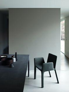 Smooth black on spotless white, design minimalism