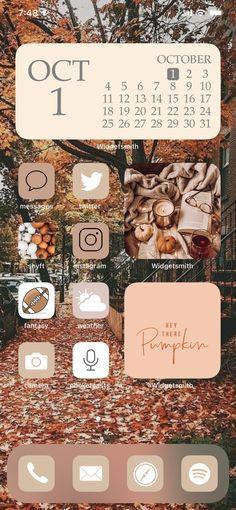 Iphone Wallpaper Fall, Halloween Wallpaper Iphone, Wallpaper App, Aesthetic Iphone Wallpaper, Themes App, Phone Themes, Iphone App Design, Iphone App Layout, Cute Fall Wallpaper