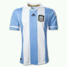Official Argentina Home Soccer Jersey 2012-2013 - Official Adidas Argentina  Apparel - Free 94f141a93