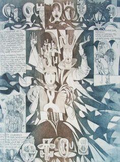 Etchingfitness: Kass János: Hamlet series Printmaking, Urban, Artist, Paintings, Paint, Artists, Painting Art, Printing, Painting
