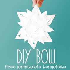 KNOW AND TELL CRAFTS: Print Your Own Bow...