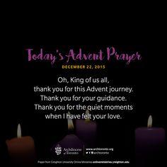Christmas Prayer, Christmas Quotes, Christmas Fun, Holiday, Today's Prayer, Daily Prayer, Advent Prayers Catholic, Creighton University, Catholic Beliefs