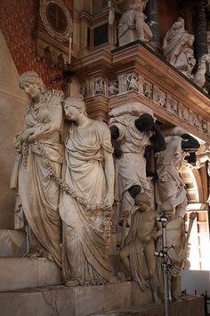 Monument to Canova and mausoleum of Doge Pesaro, Venice Venezia Veneto