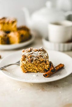 Simple Cinnamon Crumb Cake (Vegan GF) – Sincerely Tor    i#Breakfast #Cake #Cinnamon #CoffeeCake #Dairy Free #Dessert #Homemade #NutFree #QuickBread #Sweet #Treat #Vanilla #Vegan Fast Healthy Meals, Healthy Desserts, Eating Healthy, Cinnamon Crumb Cake, Chocolate Chip Muffins, Dairy Free Recipes, Sweet Bread, Coffee Cake, Whole Food Recipes