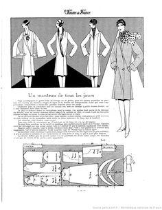 Manteau simple (La Femme de France 22/04/1928)