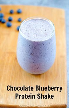Chocolate Blueberry Protein Shake Recipe