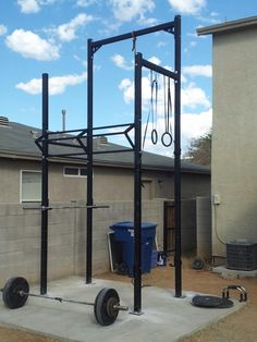 Mini Crossfit station. #outdoor #crossfit #health #exercise