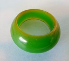Vintage Bakelite Dome Ring Green Size 7 1/2 http://www.ebay.com/itm/400607906692?ssPageName=STRK:MESELX:IT&_trksid=p3984.m1555.l2649