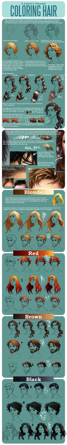 Hair Coloring Tutorial by lostie815.deviantart.com on @deviantART