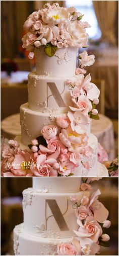 This Ron Ben-Israel Wedding Cake is absolutely STUNNING!!!! Lotte New York Palace Hotel Wedding Photos New York City Wedding