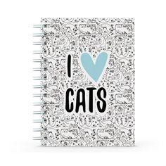 Cuaderno - I love cats, encuentra este producto en nuestra tienda online y personalízalo con un nombre. Notebook, Love, Art, Notebooks, Store, Amor, Art Background, Kunst, Performing Arts