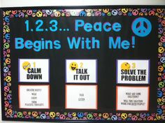 Peaceful Conflict Resolution Bulletin Board-Meant for elementary, but EDINBORO could use this. Campus beef...SMH.