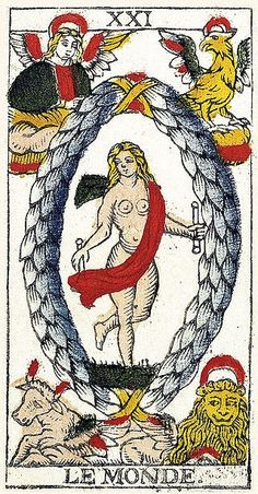 Tarot of Marseilles Heritage - Pierre Madenié, Dijon 1709 Tarot Card Decks, Tarot Cards, The World Tarot Card, Rose Croix, Le Tarot, Tarot Gratis, Oracle Cards, Archetypes, Tarot Spreads
