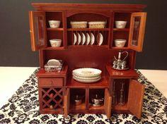 Dollhouse Miniature Furniture Kitchen/Living by Macaminiatureworld