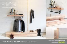 HomeMade Modern DIY EP17 Modern Rustic Mudroom Postcard