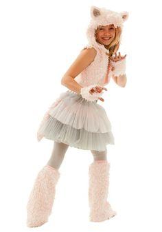 Tween Grace Kitty Cat Halloween Costume Set