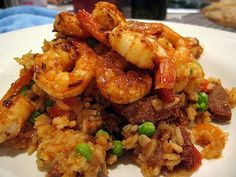 JambaKinda | The Spiced Life An easy weeknight shrimp and rice dish inspired by JAMBALAYA!!