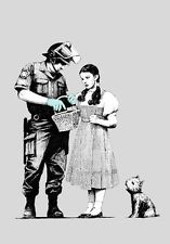 Stop and Search by Banksy A1 High Quality Canvas Print