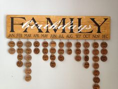 Rustic Family Birthday Board Easter Gift by DunnRusticDesigns, $40.00