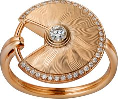Anel Amulette de Cartier MP Ouro rosa, diamantes