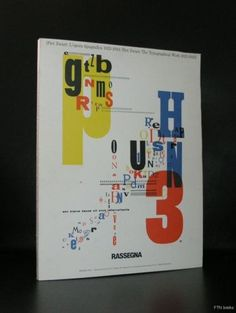 Artist/ Author: Piet Zwart Title : Piet zwart: l'Opera tipografica 1923-133/ Piet Zwart: The Typographical works 1923-1933 Publisher: Rassegna, 1987 Number of pages: 118 pages plus cover Text / Langua