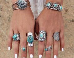 Natural Turquoise Ring, Large Sterling Silver ring, Big Turquoise Boho Style Ring, Turquoise Rings, Gypsy Rings, Chunky Rings