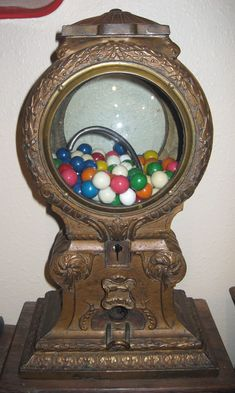 Maquire Deluxe Vending Machine Co. Marble Gumball Machine Antique Old Ornate