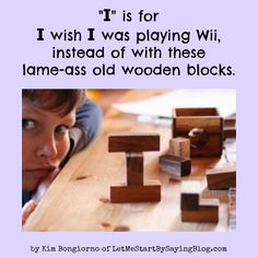 Kim of @LetMeStart is on @MommyLandRants captioning kids' thoughts. Click here to read the whole set. #Wii #humor