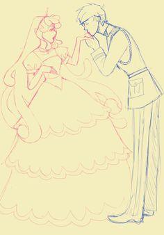 Bubblegum and Marshall Lee sketch by Skye-Bird on DeviantArt