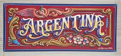 Cool Lettering done in the Argentine style. Calligraphy Letters, Typography Letters, Caligraphy, Cool Lettering, Vintage Lettering, Hand Lettering, Fantasy Tattoos, Vintage Logo Design, Tattoo Shop