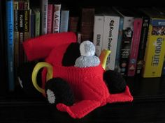 Formula One Racing Car Tea Cosy is available on Loveknitting https://www.loveknitting.com/catalog/product/view/id/202246/?utm_source=designers&utm_medium=email&utm_campaign=pattern_published