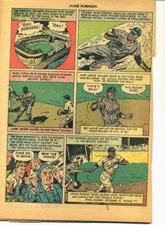 Dodgers Blue Heaven: Scans of the 1950 Jackie Robinson Comic - the Second Half Pistol Pete, Dodger Blue, Jackie Robinson, New York Yankees, Dodgers, Things That Bounce, Two By Two, Heaven, In This Moment