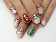 christmas nail design...love these!