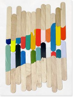 colored popsicle sticks
