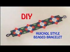 (12) 64. DIY: HUICHOL beaded BRACELET! THUMBS UP!!! - YouTube