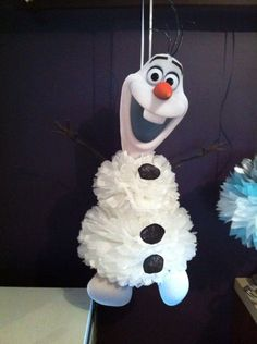 2014 Christmas Frozen Olaf pom poms hanging ornament - home decoration #2014 #Christmas