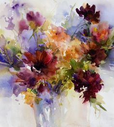 Janet Rogers watercolor...love her style