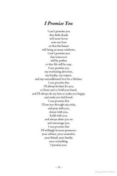 Take a look at the best wedding vows to husband in the photos below and get ideas for your wedding!!! Wedding vows are tricky. There's pressure to make them fun