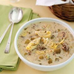 Oyster and Artichoke Soup